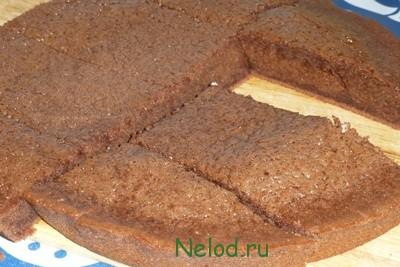 пирог брауни из шоколадных конфет