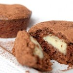 Шоколадные маффины с заварным кремом