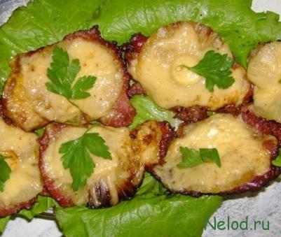 курица в духовке с сыром и чесноком рецепт