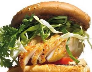 Диетический бургер с рыбой