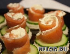 Закуска из лосося со сливочным сыром
