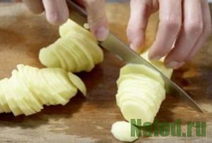 как нарезать картофель для чипсов