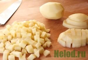 как нарезать картофель кубиками