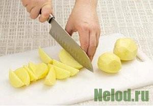 как нарезать картофель ломтиками