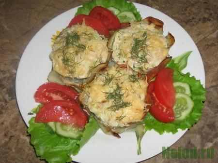 Закуска из кабачков с помидорами в духовке