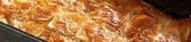греческий тыквенный пирог из слоеного теста