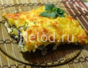Запеканка с картофелем, грибами и сыром