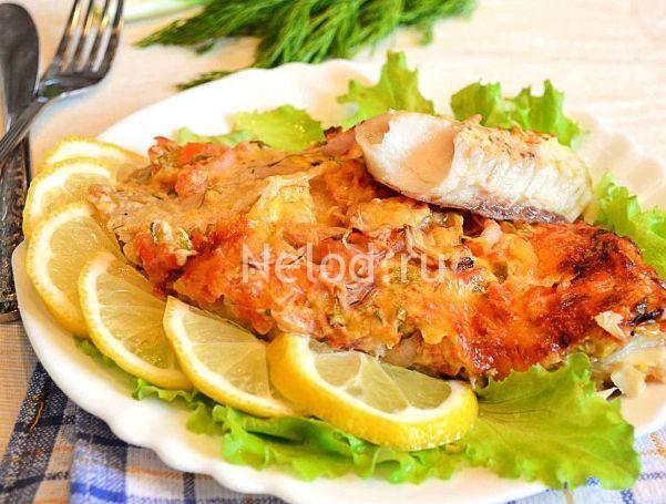 Рыба судак по-французски